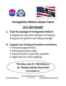 2013-06-27Immigration Action Team fliers